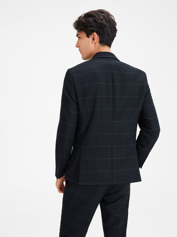 WINDOWPANE TERNET BLAZER, Dark Navy, large