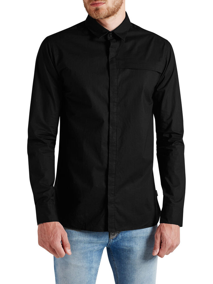 URBAN FORMELL CASUAL SKJORTA, Black, large