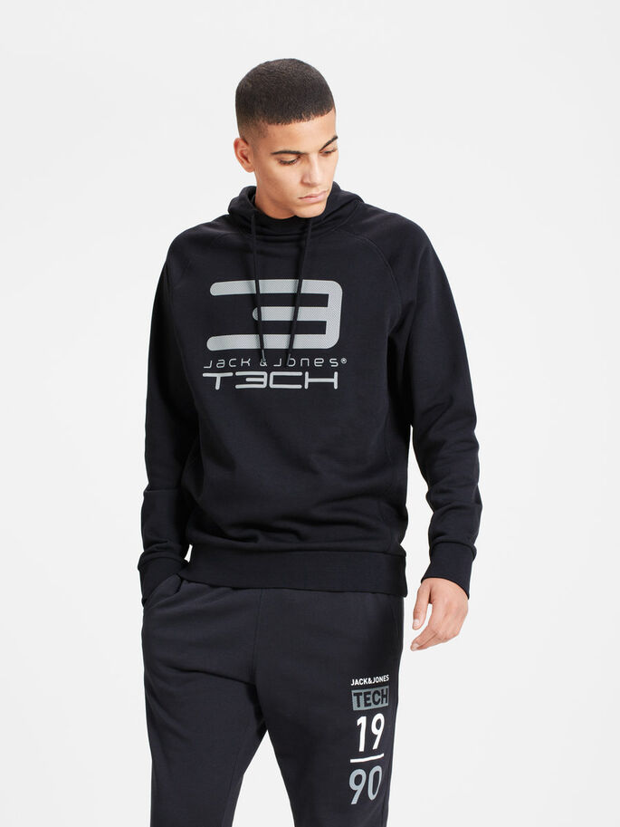 LOGO SWEATSHIRT, Black, large