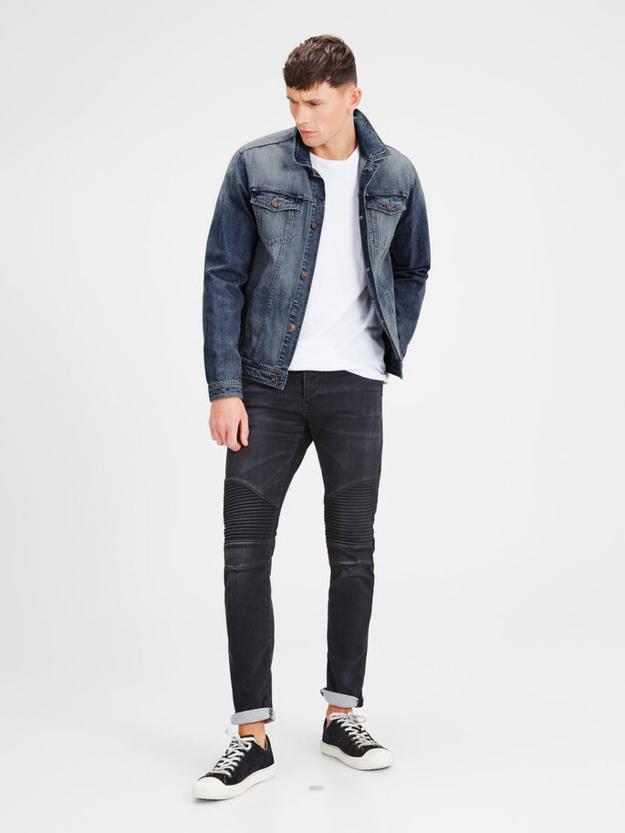 JEAN JEANSJACKA, Blue Denim, large