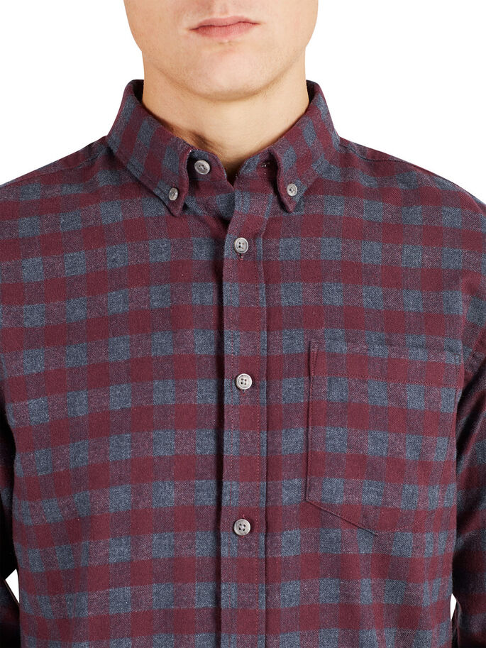 CHECK LONG SLEEVED SHIRT, Port Royale, large