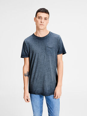 BLEICH-OPTIK LONGLINE- T-SHIRT