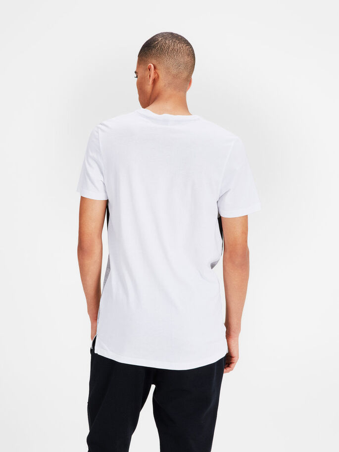 BLOCK COLOUR T-SHIRT, White, large