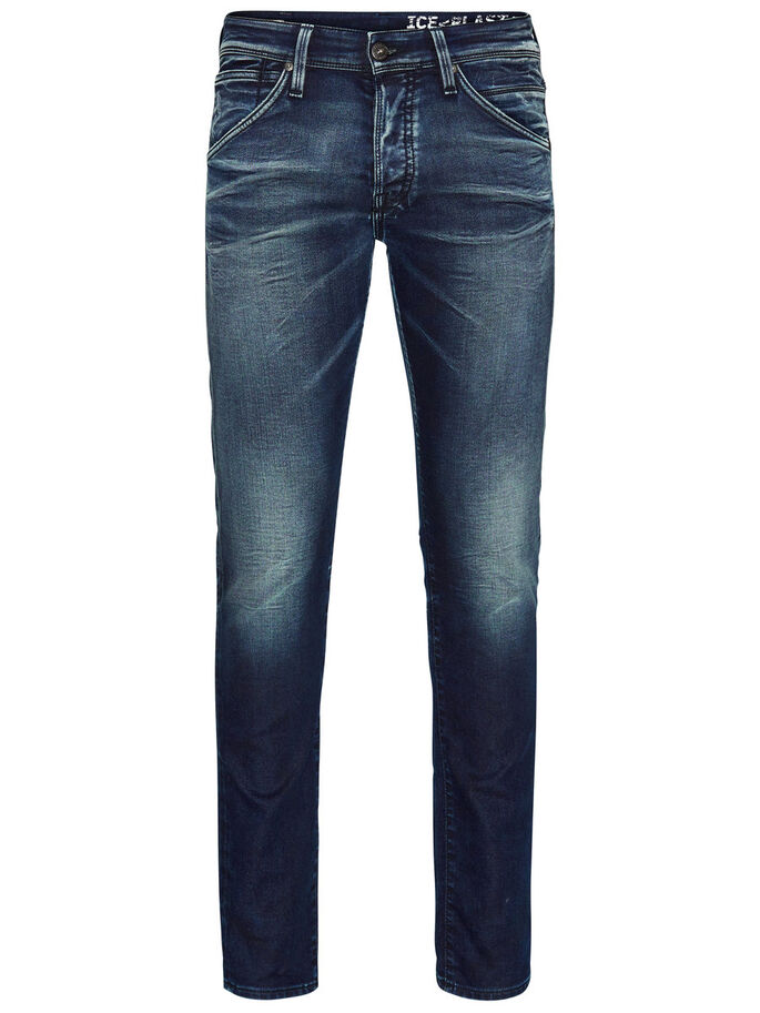 GLEN JJFOX BL 624 EN INDIGO KNIT - JEANS SLIM FIT, Blue Denim, large