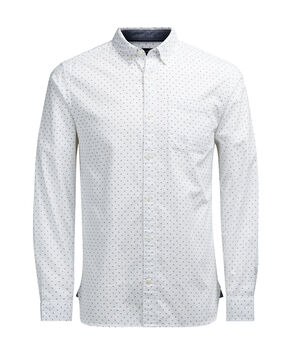 PATTERNED BUTTON-DOWN OXFORD LONG SLEEVED SHIRT