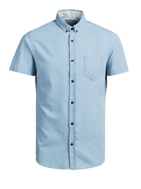 SHARP DENIM SHORT SLEEVED SHIRT