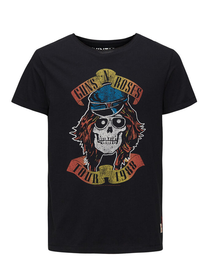 GUNS N' ROSES PRINTED T-SHIRT, Caviar, large
