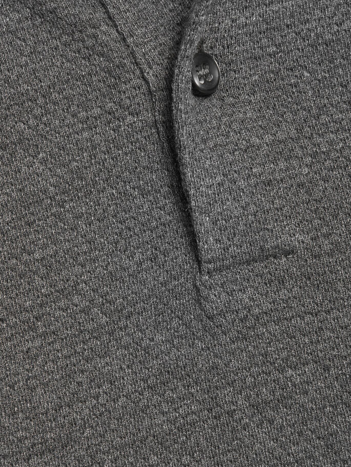 MANCHES LONGUES POLO, Dark Grey Melange, large