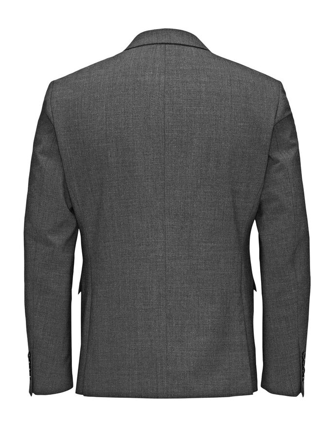 KLASSIEK REGULAR FIT BLAZER, Dark Grey, large