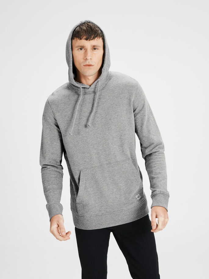 CAPUCHE SWEAT À CAPUCHE, Light Grey Melange, large