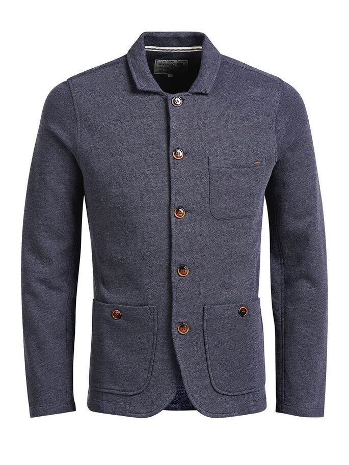 MELANGE-SWEAT- BLAZER, Mood Indigo, large
