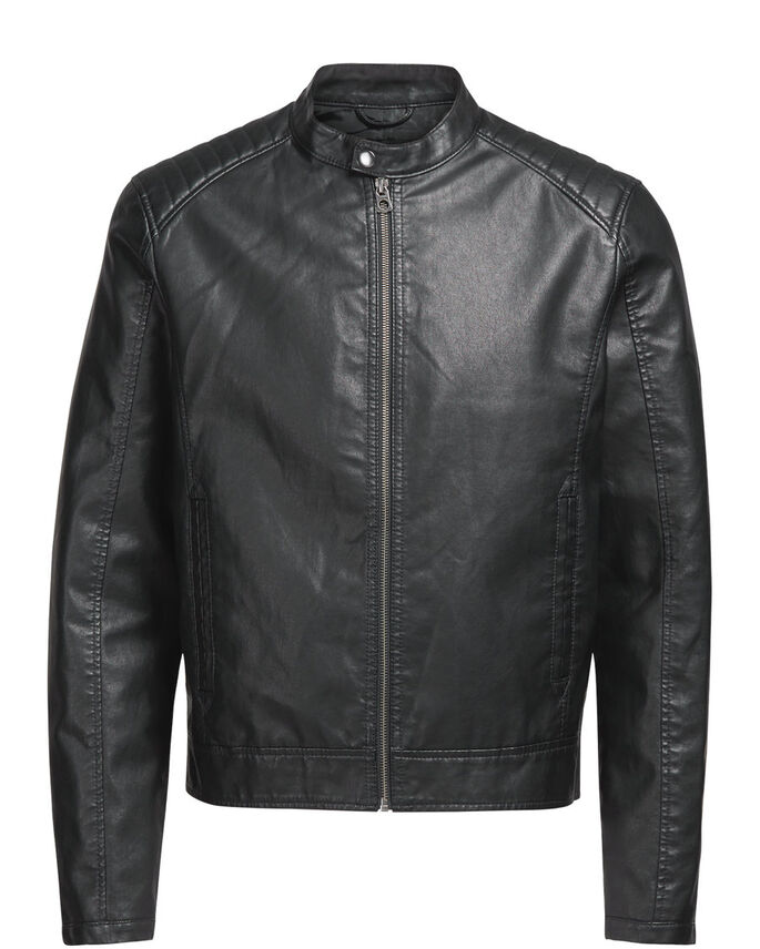DA BIKER GIACCA IN SIMILPELLE, Black, large