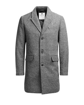FLECKED WOOL BLEND COAT