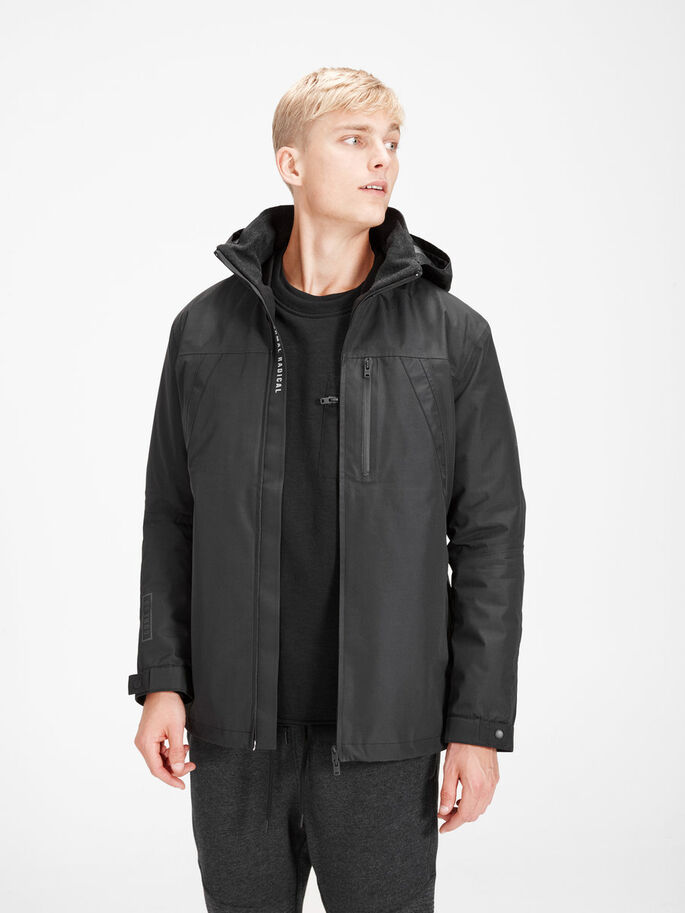 IMPERMÉABLE 4-EN-1 VESTE, Black, large