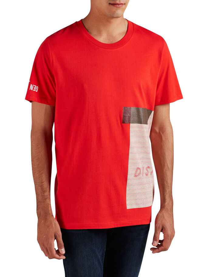 GRAFISK OVERSIZE FIT T-SHIRT, Fiery Red, large