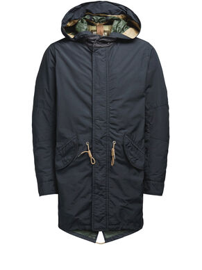 DETAILED FISHTAIL PARKA COAT