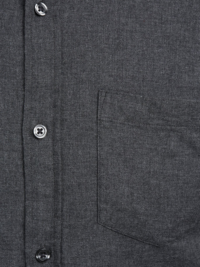 BUTTON-DOWN- LANGARMHEMD, Dark Grey, large