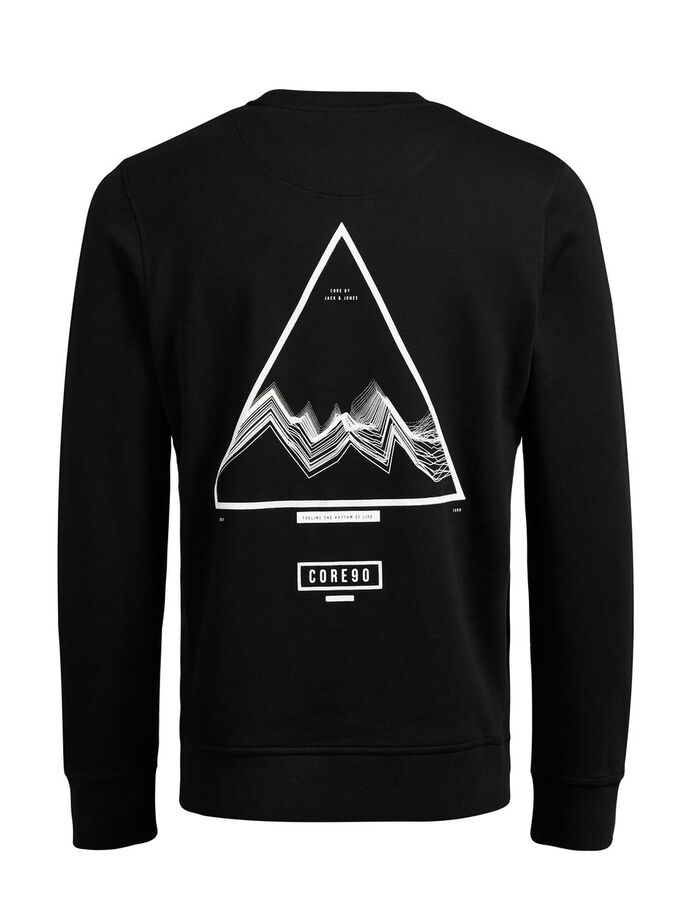 GRAPHIC SWEATSHIRT, Black, large