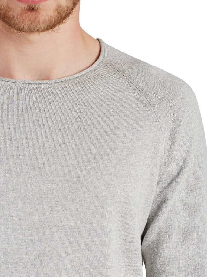 VERSTAILE PULLOVER, Light Grey Melange, large