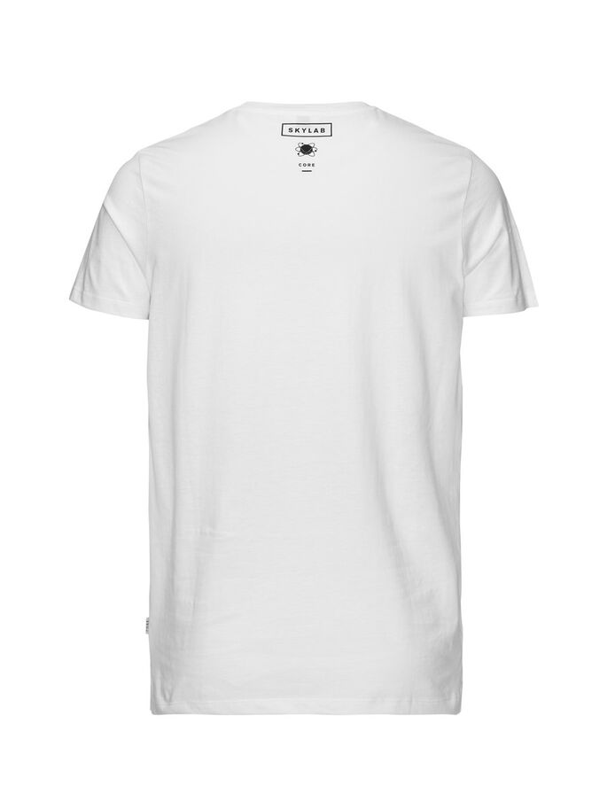 SURDIMENSIONNÉ GRAPHIQUE T-SHIRT, White, large