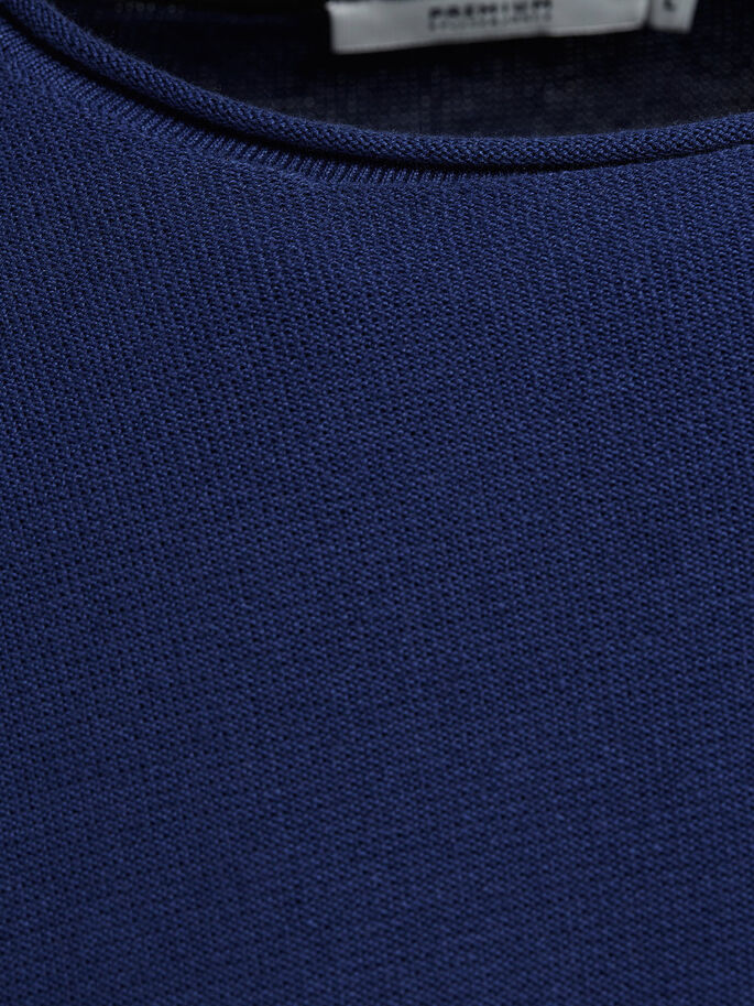 CUELLO REDONDO CLÁSICO JERSEY, Blue Depths, large