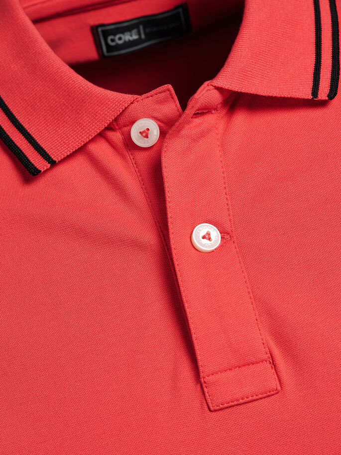 SPORTS INSPIRED POLO SHIRT, Cayenne, large