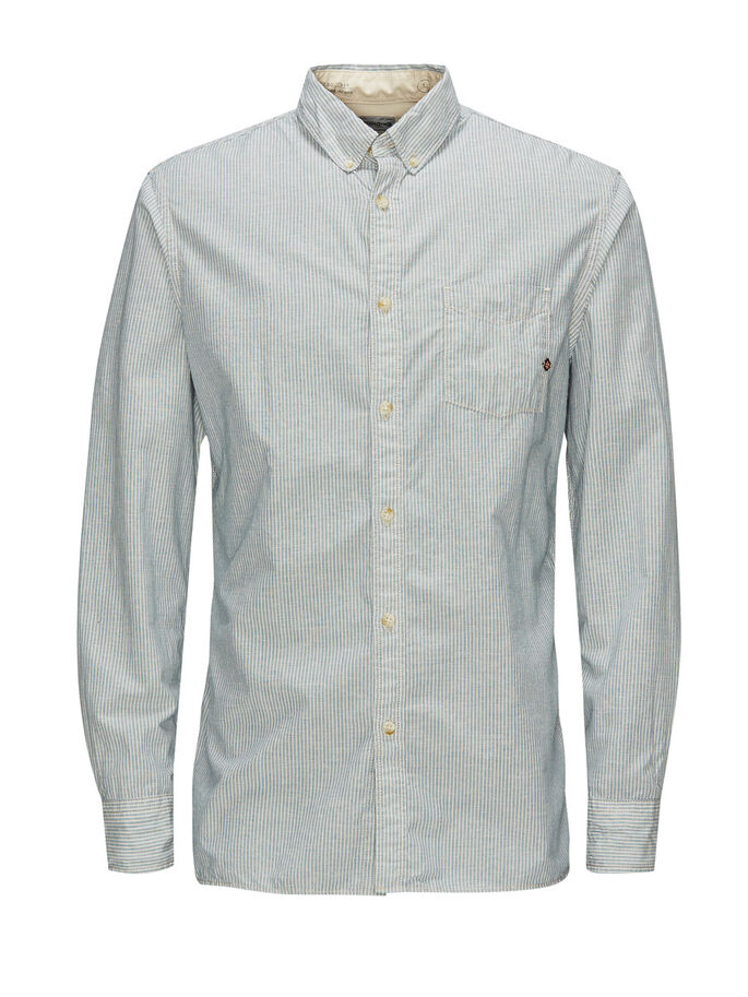 BUTTON-DOWN CASUAL SHIRT, Whisper White, large