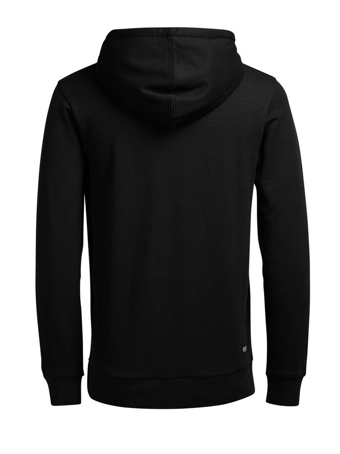 COUPE REGULAR DOUCE SWEAT À CAPUCHE, Black, large
