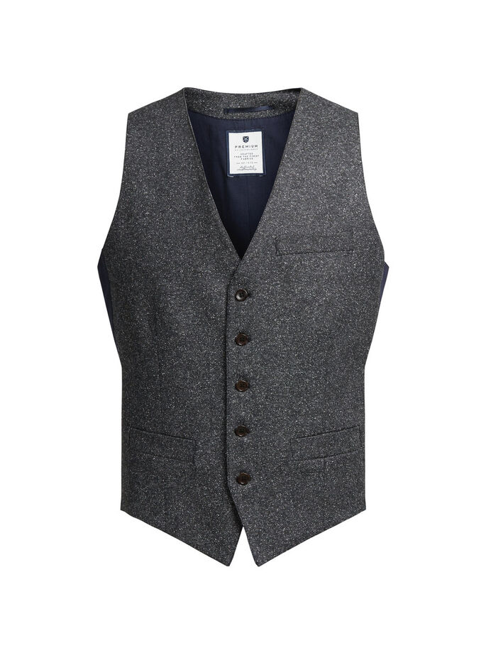 SPETTET VEST, Dark Grey, large