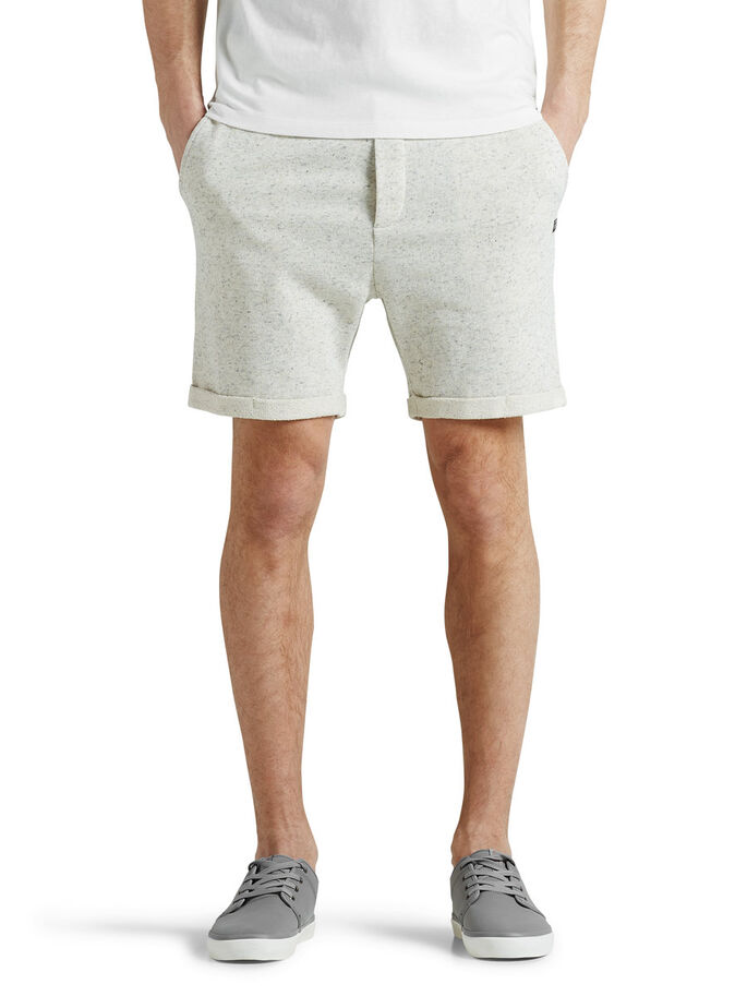 COMFORT FIT SHORTS EN MOLLETON, Treated White, large