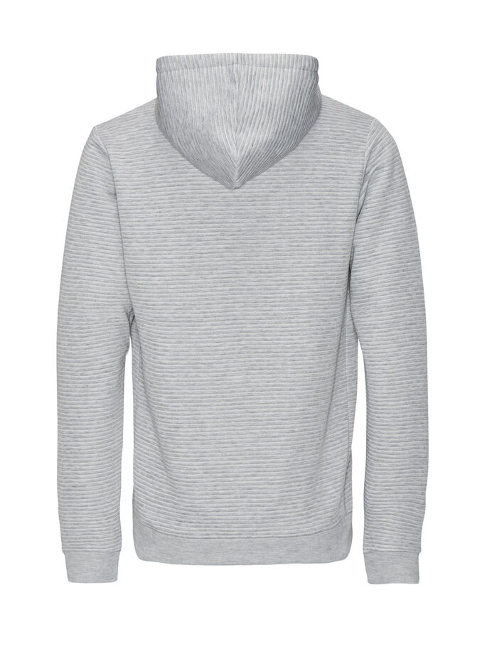 VERSÁTIL SUDADERA CON CAPUCHA, Light Grey Melange, large