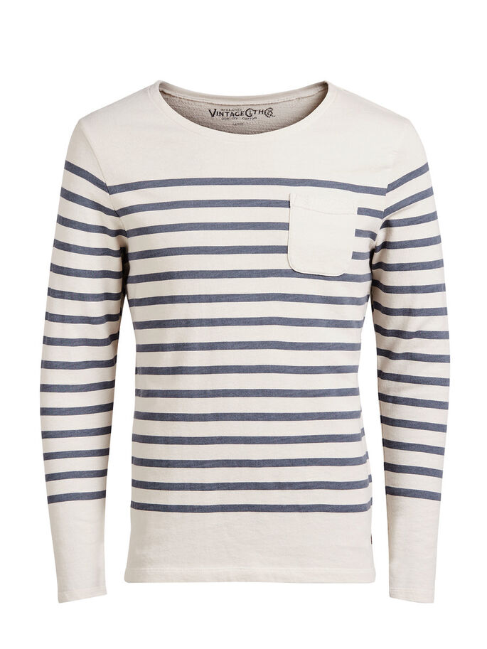 GESTREEPT SWEATSHIRT, Mood Indigo, large