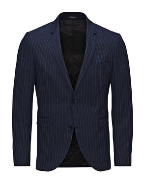 PIN STRIPED SLIM FIT BLAZER