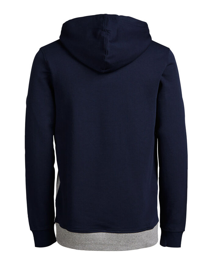 COLOUR BLOCKING HOODIE, Navy Blazer, large