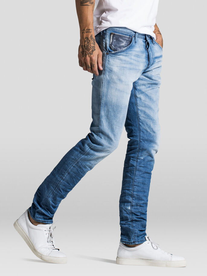 GLENN FOX BL 562 JEAN SLIM, Blue Denim, large