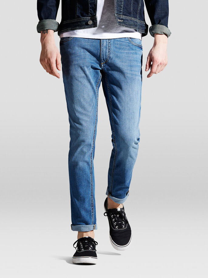 TIM ORIGINAL AM 015 JEAN SLIM, Blue Denim, large