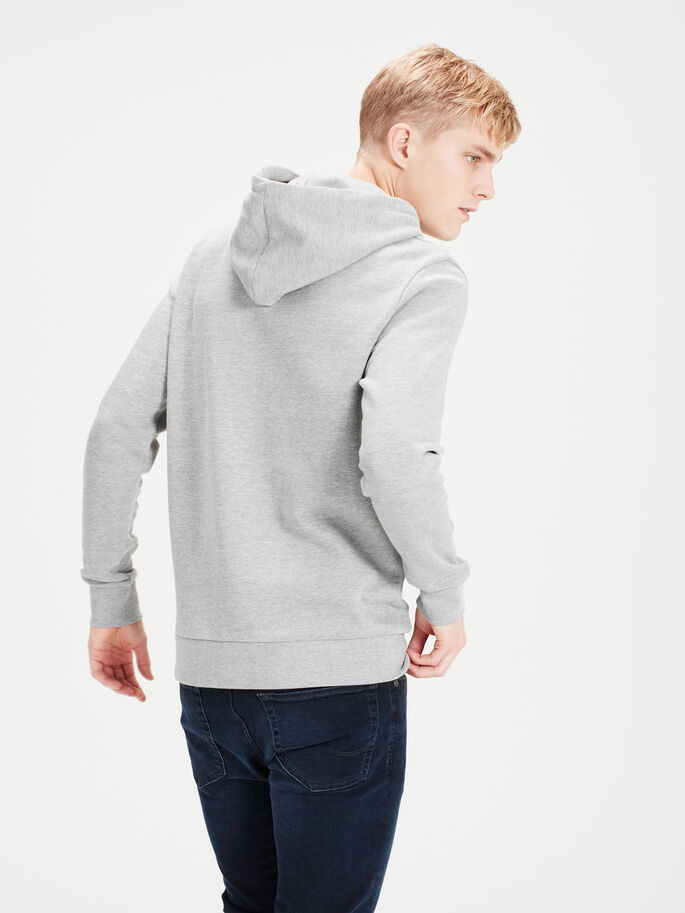 BEDRUCKTER HOODIE, Light Grey Melange, large