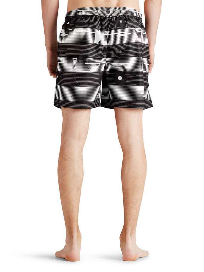 GRAPHIC PRINT SWIMSHORTS, Black, large