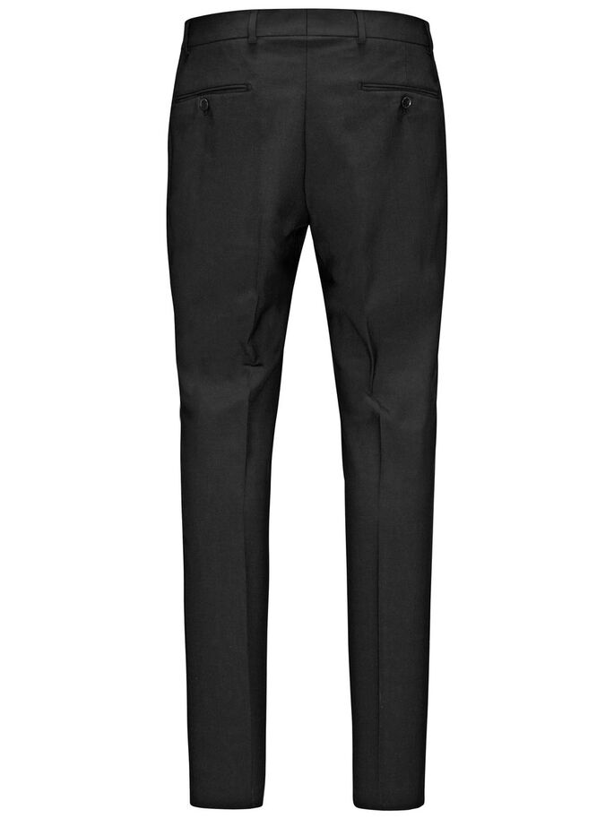 REGULAR FIT SUIT TROUSERS, Black, large