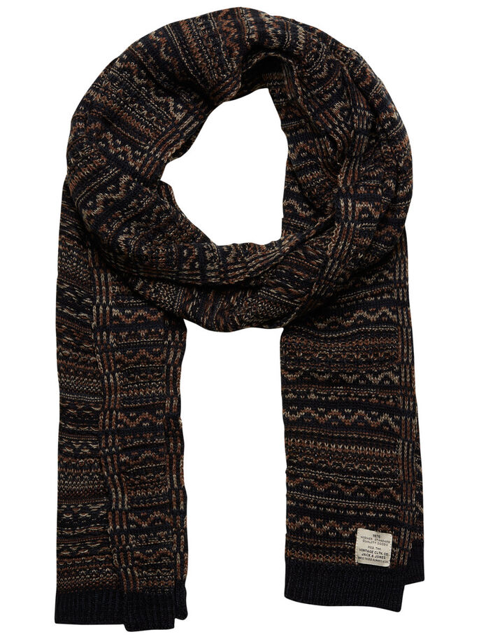 PATTERNED SCARF, Total Eclipse, large