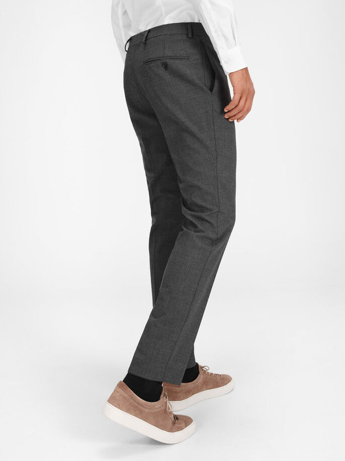 CLASSIC REGULAR FIT SUIT PANTS, Dark Grey, large