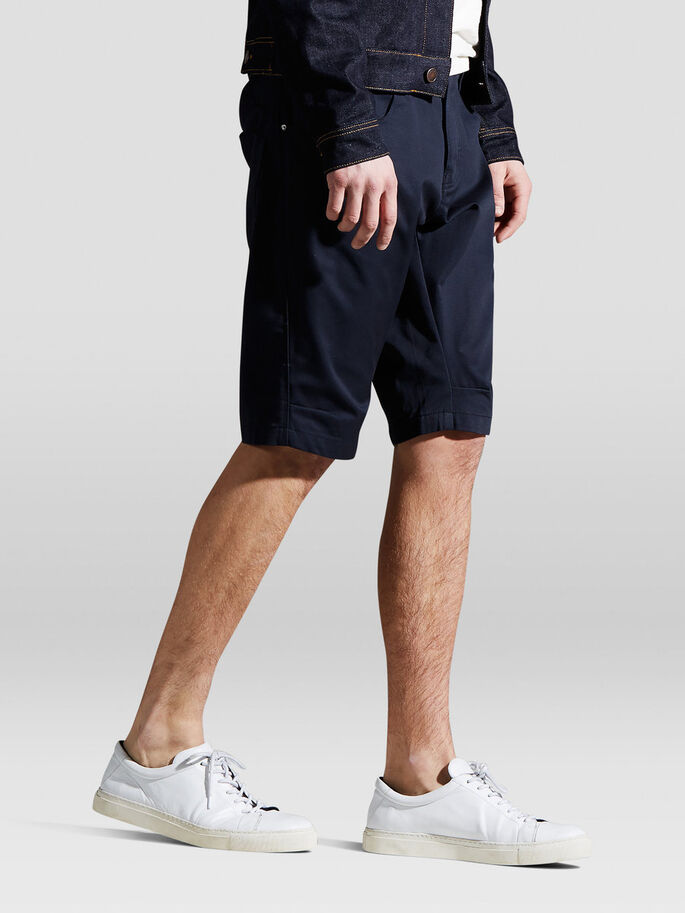 LESTER LANGE SHORTS, Navy Blue, large
