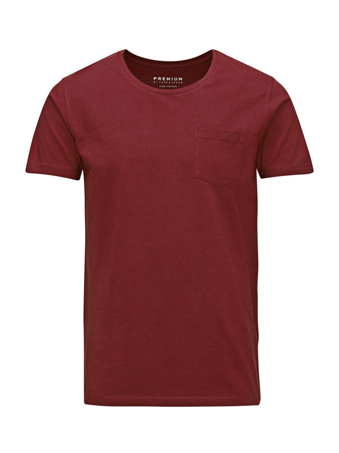 HÖGKVALITATIV BOMULL SLIM FIT T-SHIRT, Port, large