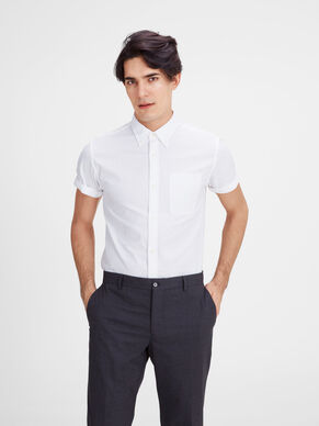 BUTTON-DOWN KORTERMET SKJORTE