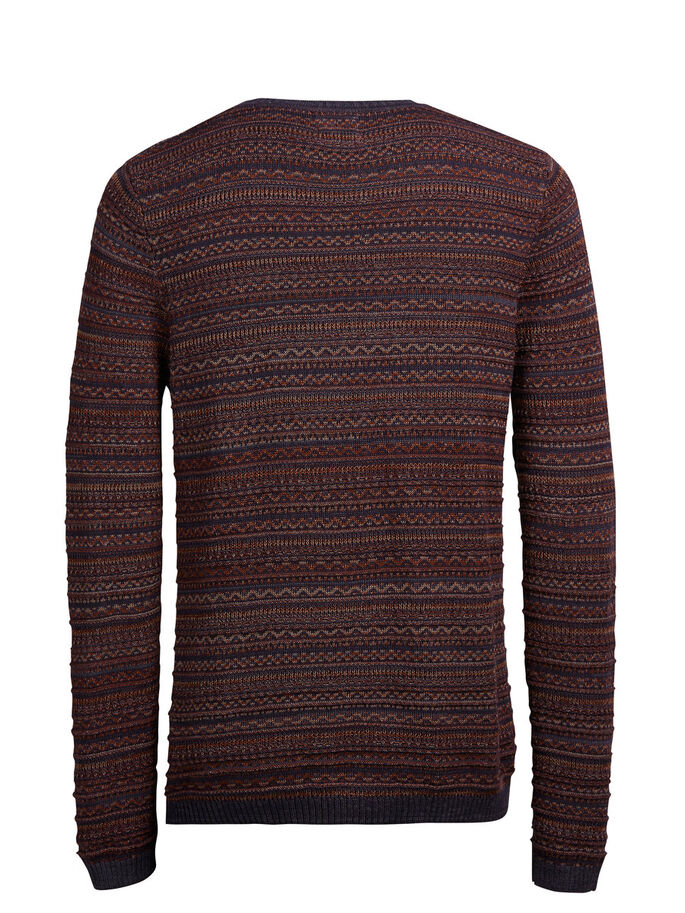 JACQUARD-STRICK- PULLOVER, Fired Brick, large