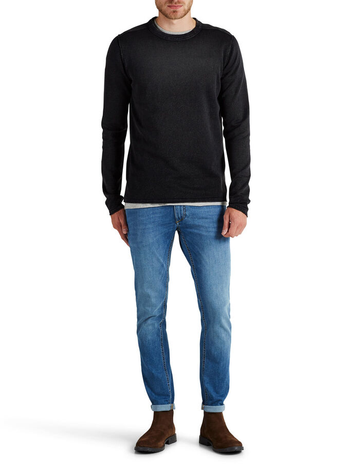 RUGGED KNITTED PULLOVER, Caviar, large