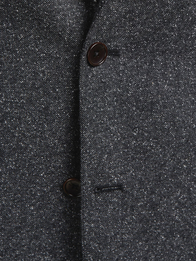 FLECKED BLAZER, Dark Grey, large