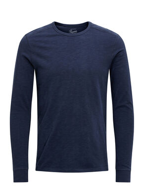 SLUB LONG-SLEEVED T-SHIRT