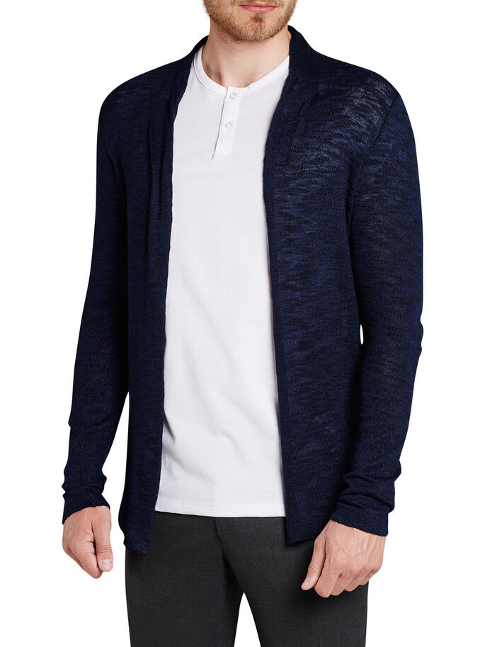SHAWL NECK CARDIGAN, Navy Blazer, large