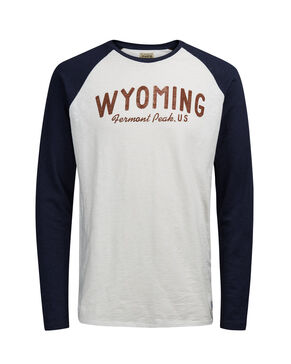 TWO-TONE RAGLAN LONG-SLEEVED T-SHIRT